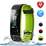 Letsfit ID115Plus HR Fitness Color Screen, Heart Rate, IP68 Waterproof Activity Tracker, Sleep Monitor, Step Counter, Smart Sports Watch for Kids Women Men