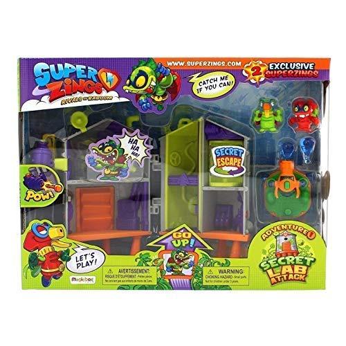 Laboratorio Secreto Playset 1Color Verde Superzings Adventure 3L4AR5j