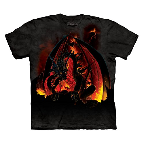 The Mountain Men's Fireball Dragon T-Shirt Black XL