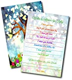 Beautiful Original Artwork Baby Shower Advice and Wishes Cards | The New Parent Message Cards by L&P Designs Baby Shower Guest Book Alternative | Baby Games 50 Card Set