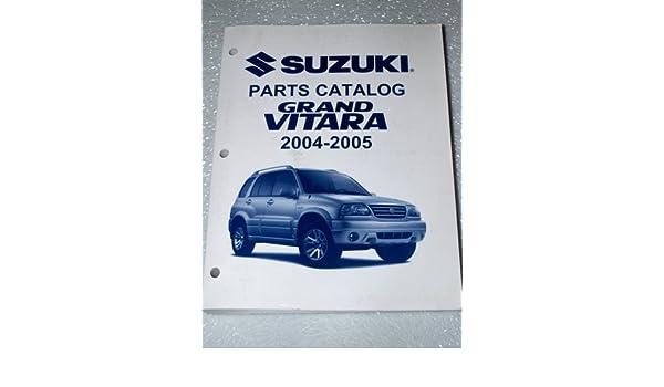 2004 2005 Suzuki Grand Vitara Parts Catalog Suzuki Motor