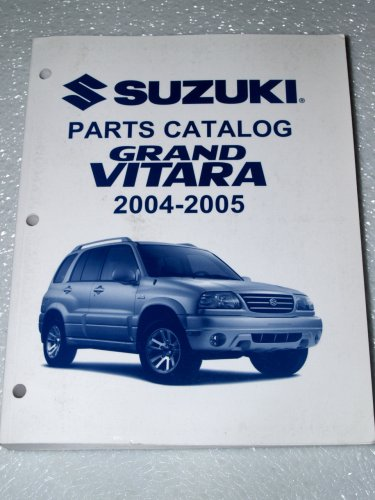 2004, 2005 Suzuki Grand Vitara Parts Catalog
