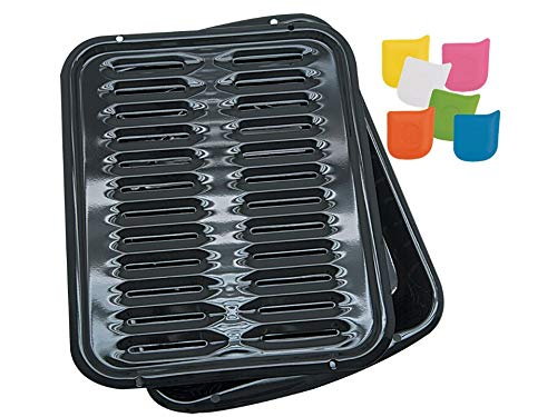 Range Kleen Broiler Pan for Ovens- BP102X WITH One Range Kleen Scraper (Best Non Stick Broiler Pan)