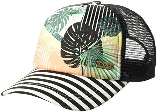 (Roxy Women's Water Come Down Trucker Hat, jet black crazy victoria POPSURF 1SZ)