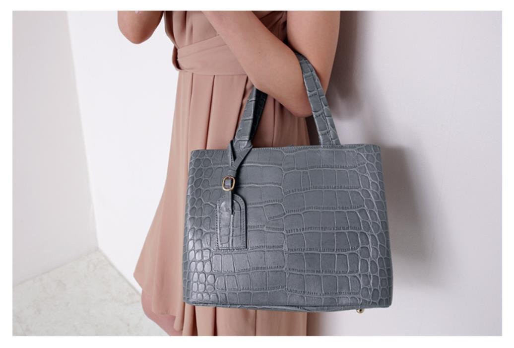 Bellina Wani Tote Shoulder Bag BB1218 (Grey) by Pristine&BB (Image #6)