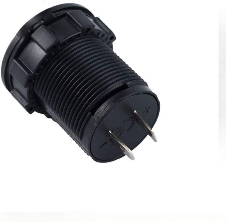 12V//24V Voltage Voltmeter with LED Digital Display Black Independence Switch Compatible Cars Vehicles