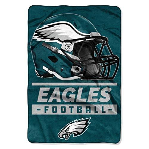 The Northwest Company NFL Philadelphia Eagles Sideline Oversized Micro Raschel Throw Blanket, 62