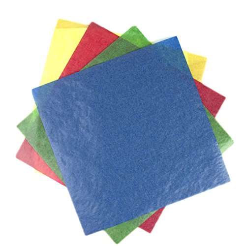 Kite Paper Squares, 6.25 inches, Primary Bright Colors by Mercurius