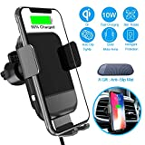 ARCBLD Car Mount Wireless Charger Vent Phone Mount Qi Fast Charger for iPhone Xs max/XR/X/8/8+ Galaxy S9/S9+/S8/S8+ (Air Outlet Style)