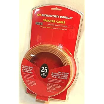 Amazon.com: Monster Cable Speaker Wire - 25 Feet, 7.62m: Home ...