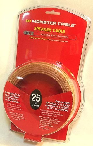 Monster Cable Speaker Wire - 25 Feet, 7.62m (Monster Large Cable)
