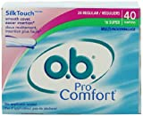 o.b. Pro Comfort Tampons, Multi-Pack, 40-Count