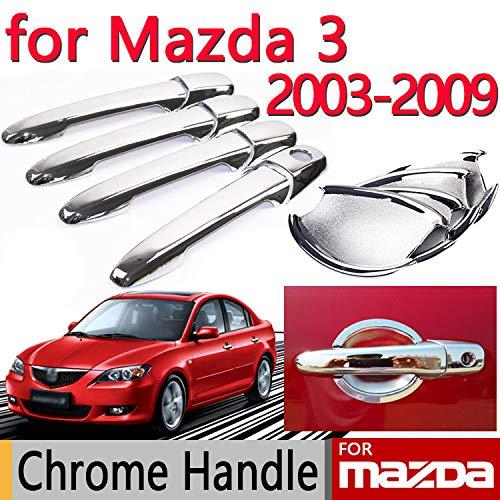 Exterior Parts For Mazda 3 2003-2009 Accessories Chrome Door Handle Axela 2004 2005 2006 2007 2008 Sedan Hatchback Car Sticker Car Styling - (Color: Bowl)