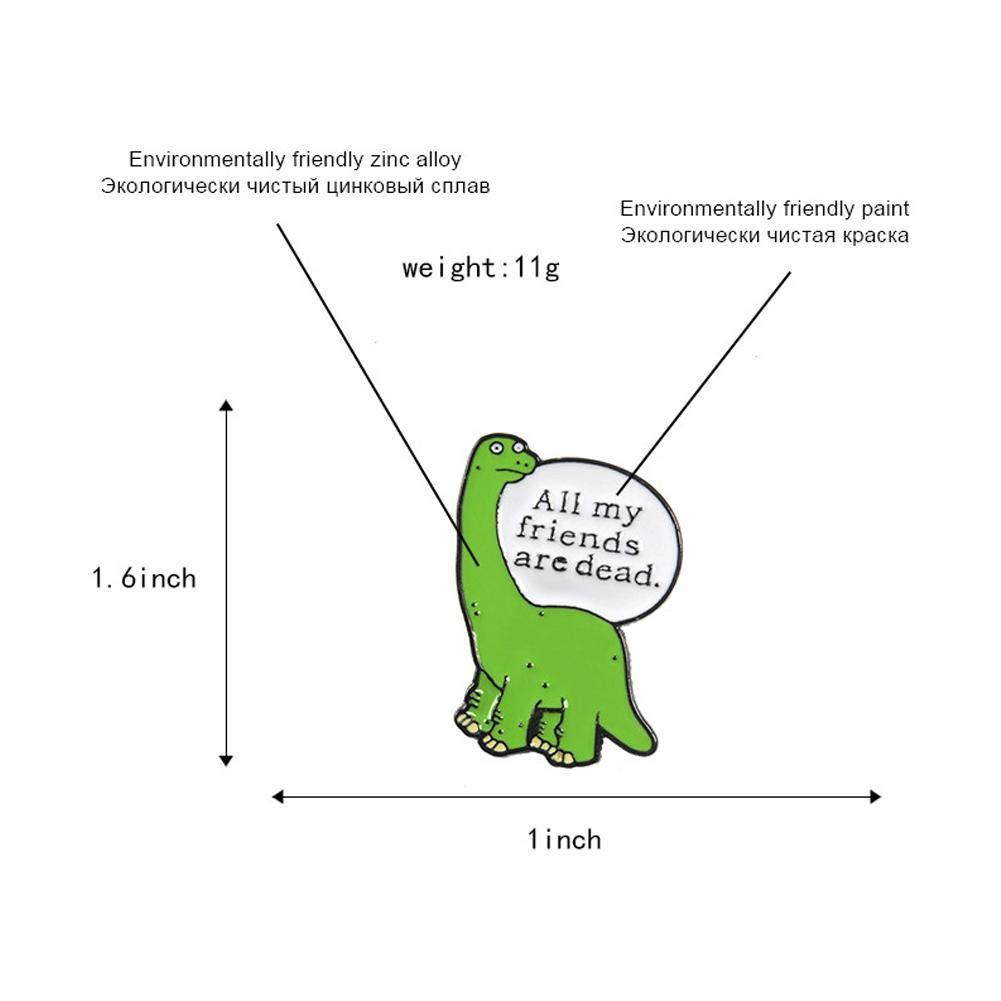 Febelle Broche Dinosaure Dessin Anim/é Mignon Animal M/émoire Broches pour V/êtements Chapeau Sac Accessoire