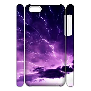 Lightning 3D DIY Custom Durable Hard Plastic Case Cover LUQ185769 For Iphone 5C