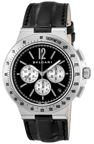 - BVLGARI Diagono Tachimetric black dial Men Watch DG41BSLDCHTA