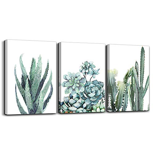 - Canvas Wall Art for living room bathroom Wall Decor for bedroom kitchen artwork Canvas Prints green plant flowers painting 12