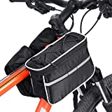 4 In 1 Multi-function Bike Bag Cycling Bicycle Mountain Front Top Rear Pouch Tube Bag With Reflective Stripe And Rain Cover