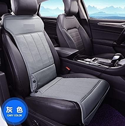 Breathable 12V Cooling Car Seat Cushion Single Front Air Ventilated Fan Pu Leather For Summer