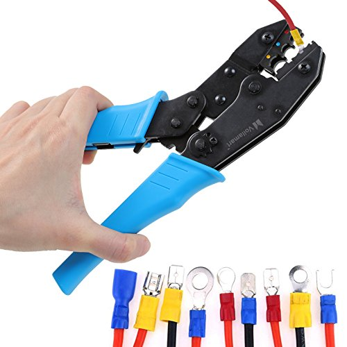 Voilamart Insulated Wire Crimper, Wire Terminals Connectors Ratcheting Crimper Plier Tool for 22-10AWG by Voilamart (Image #5)