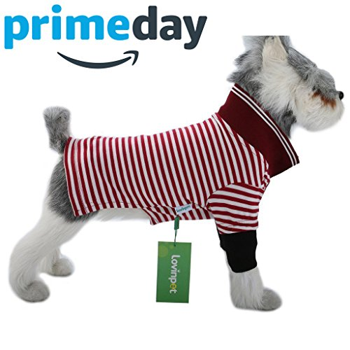 LovinPet Dog Shirts Polo Cotton Outdoor Dog Clothes Dog Dress Shirt 4 Colors (Please Read (4 Dog T-shirt)