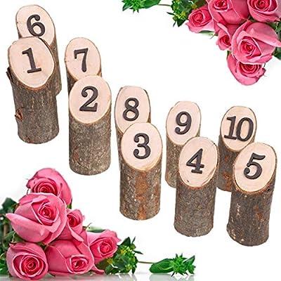 MA87 - Números de Mesa de Madera rústicos de 1 a 10 para ...