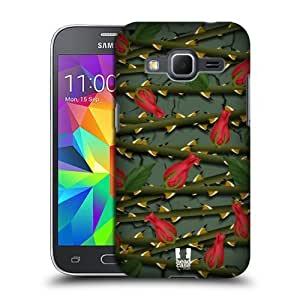DIY Case Designs Scarlet Rose Protective Snap-on Hard Back Case Cover for Samsung Galaxy Core Prime G360 by ruishername