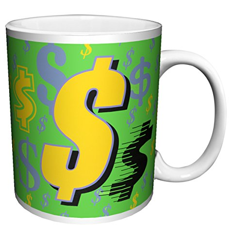 r Signs Money Decorative Fine Pop Art Ceramic Gift Coffee (Tea, Cocoa) 11 Oz. Mug ()
