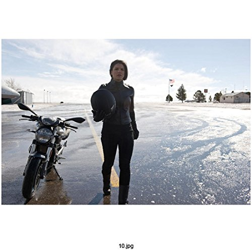 Haywire Gina Carano as Mallory Kane and her bike 8 x 10 Inch Photo