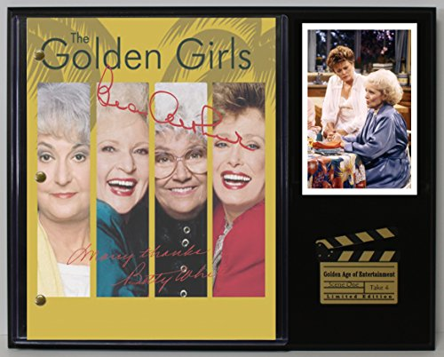 "GOLDEN GIRLS LTD EDITION REPRODUCTION SIGNED TELEVISION SCRIPT DISPLAY""C3"""