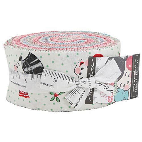 Sweet Christmas Jelly Roll 40 2.5-inch Strips by Urban Chiks for Moda Fabrics