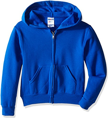 Jerzees Youth Full Zip Hooded Sweatshirt, Royal, Medium