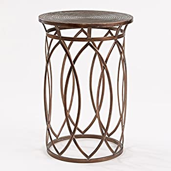 Image of FirsTime & Co. Marquise Side Accent Table, 22.5'H x 15'W x 15'D, Antique Bronze Home and Kitchen