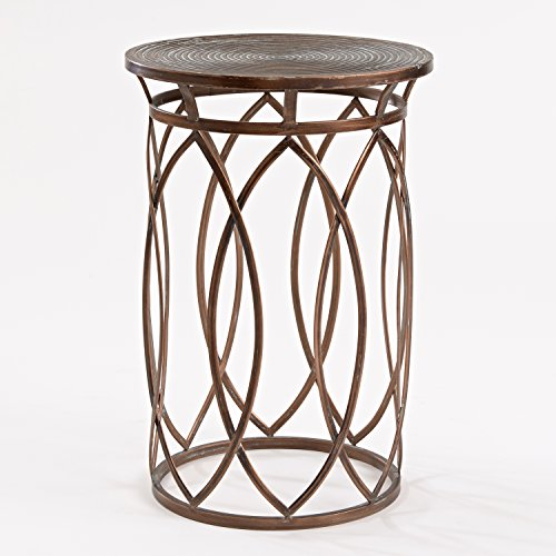 FirsTime Co. BTSAW8 BTGLVS-L Accent Table, Antique Bronze