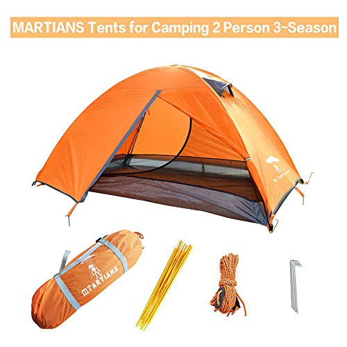 Tents for Camping 2 Person 3-Season Double Doors Lightweight Waterproof Double Layer Backpacking Tent with Carry Bag for…