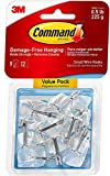 Wire Hooks, Small, Clear, 9-Hook, 4-Pack