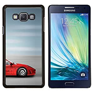 Cubierta protectora del caso de Shell Plástico || Samsung Galaxy A7 ( A7000 ) || Supercar Sprotscar Fast Car Roja borrosa velocidad @XPTECH