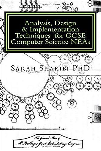 Analysis, Design & Implementation Techniques for GCSE