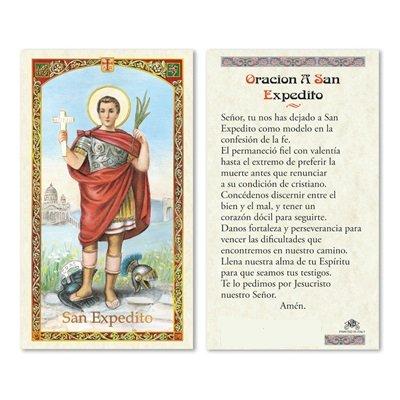 Gifts by Lulee, LLC Oracion a San Expedito Tarjeta de Rezo Bendecida Importada de Italia Laminada con Acentos en Oro