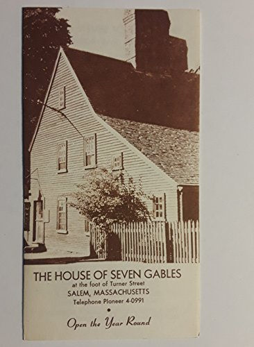 Vintage Original Brochure The House of Seven Gables Salem Massachusetts