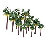 NUOLUX Layout Rainforest Plastic Palm Tree Diorama Scenery 12pcs