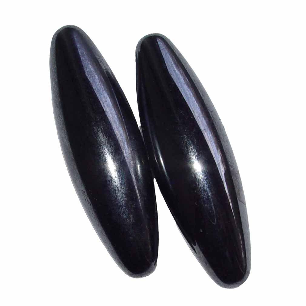 1 Paar Magnete in Oliven Form aus magnetisiertem Hämatit (Blutstein) auch singende Steine genannt Größe M: ca. 40 mm (4535) Janni-Shop®