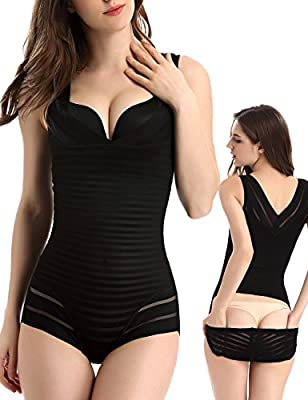 OLIKEME Women's Shapewear,Adjustable High Waisted Seamless Firm Tummy Control Shapewear Bodysuit For Women
