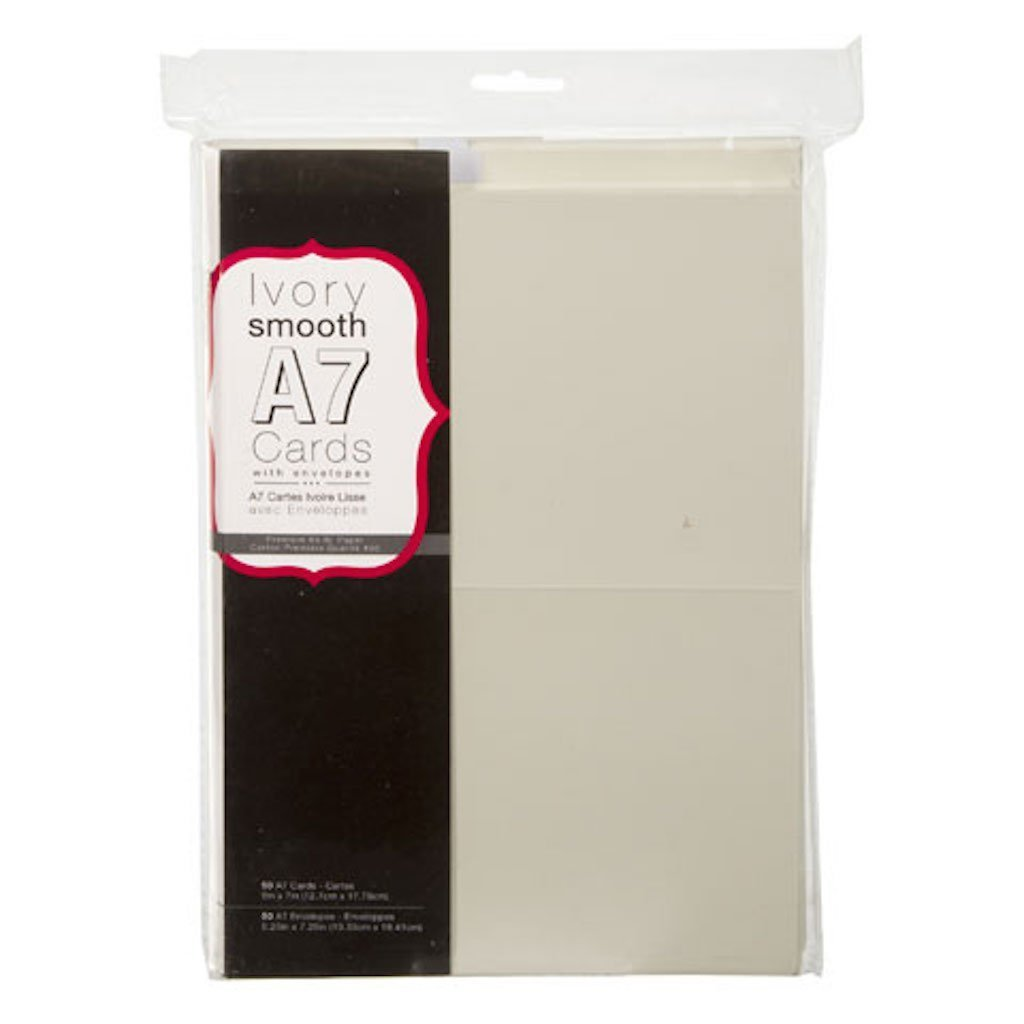 Amazon Darice Blank Cards And Envelopes Ivory 5 X 7 50 Pcs