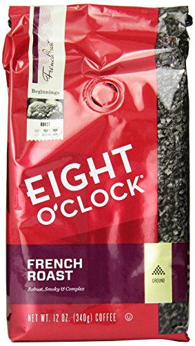 Eight O'Clock Ground Coffee, French Roast, 12 Ounce (Pack of 6)