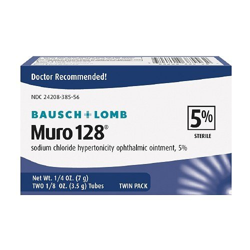 (Muro 128 Sodium Chloride Hypertonicity Ophthalmic Ointment, 5% Sterile,Twin Pack 0.25)