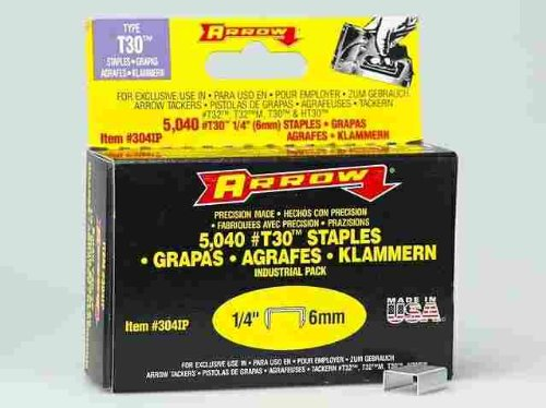 Arrow Fastener 304IP 1/4 T30 Staples ()
