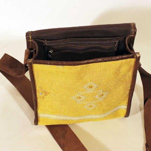 albena Marokko Galerie unisex orientalische Umhängetasche Keisa (gelb) Gelb