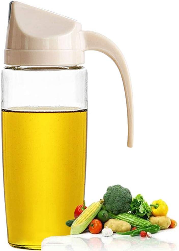 YAOYUE Auto Flip Olive Oil Dispenser Bottle 20 OZ And Olive Oil Dispenser Bottle 10 Oz,2 Pack Set Oil Vinegar Condiment Holders Dispenser Cruets For Kitchen 20 Oz /& 10 Oz Set