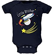 Little Brother Outer Space Rocket Soft Baby One Piece Navy 0-3 M